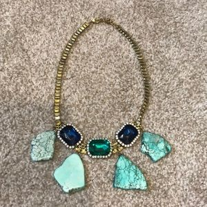 Anthropologie Gem & Turquoise Necklace